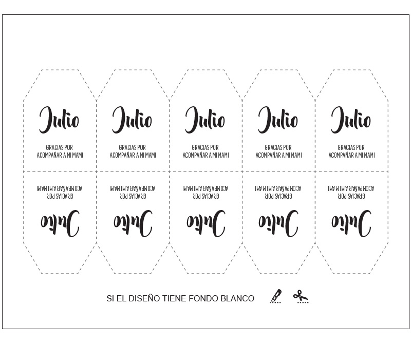Ejemplo acomodo de tarjeta tipo trapecio fondo blanco