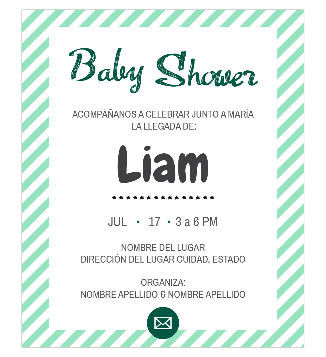 Invitación para Baby Shower Niño
