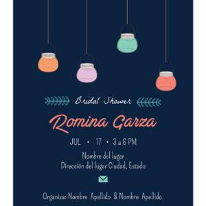 Invitación Despedida de Soltera Lamps