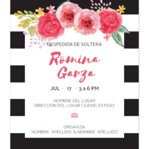 Invitación Despedida Soltera Rayas