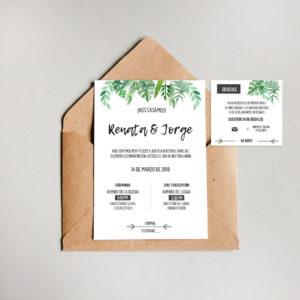 Diseño invitación Boda Jungle
