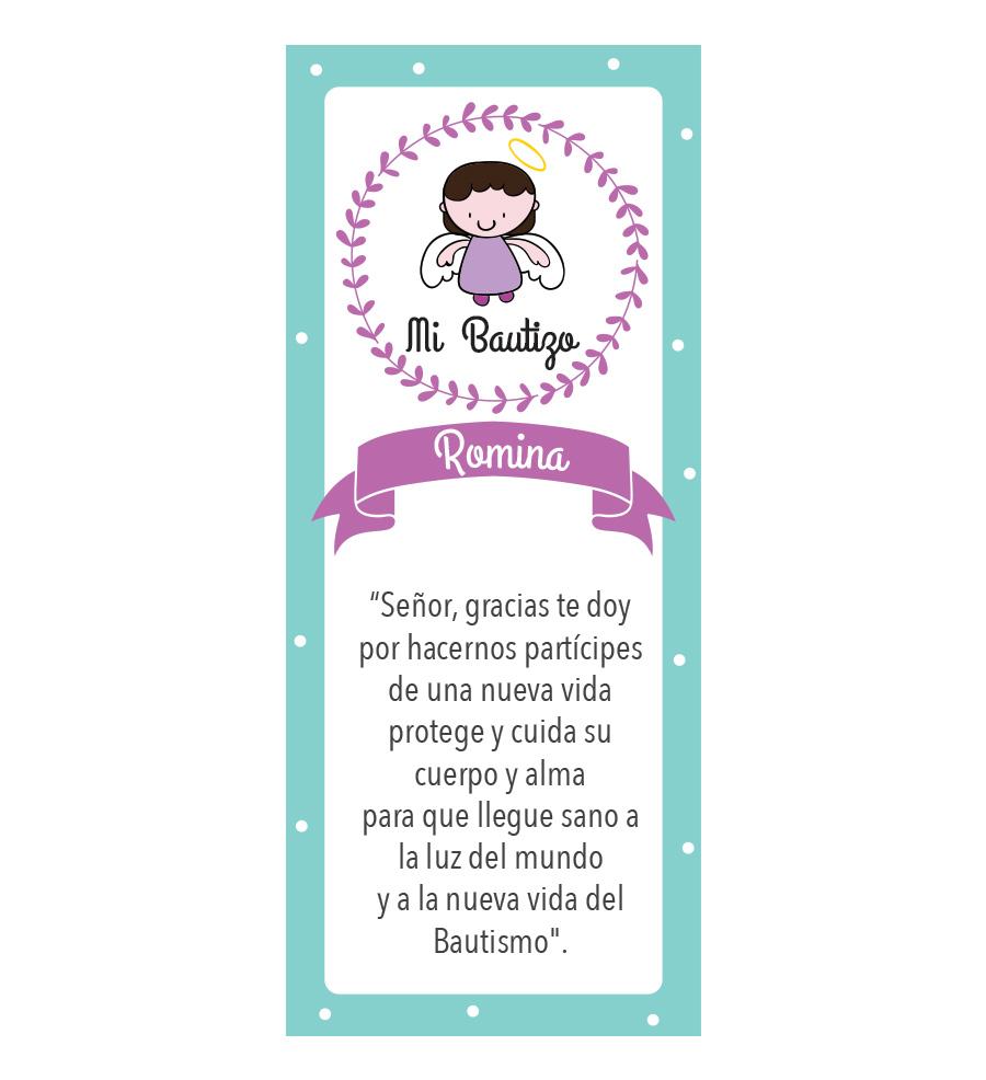 Oración Bautizo Morada