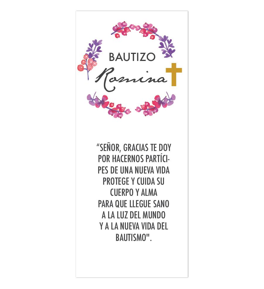 Oración Flores Bautizo