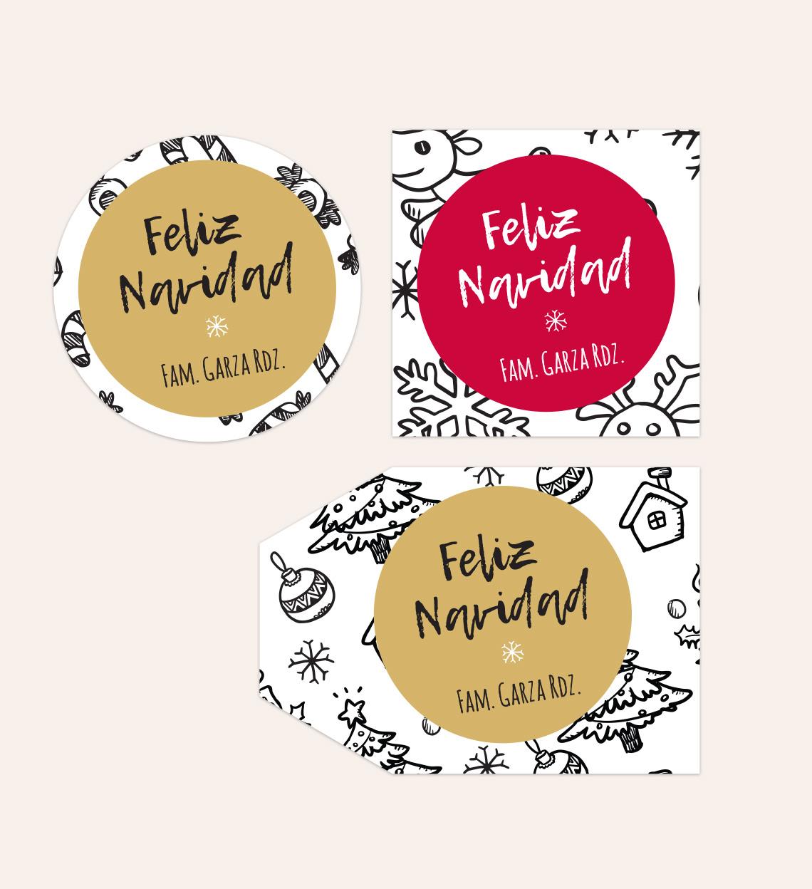 Diseño Etiqueta Fondo de Navidad
