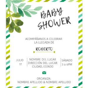 Invitación Baby Shower Jungle