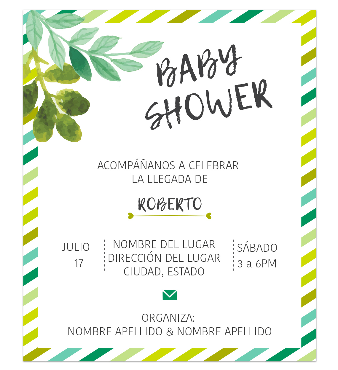 Invitación Baby Shower Jungle