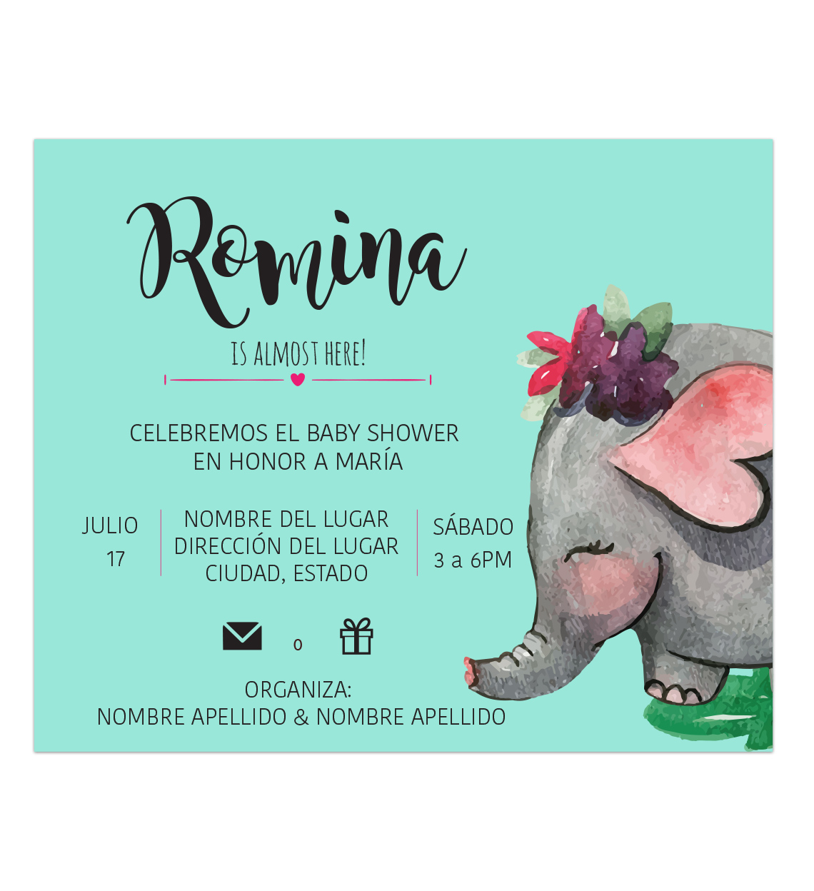 Invitación Baby Shower Manny