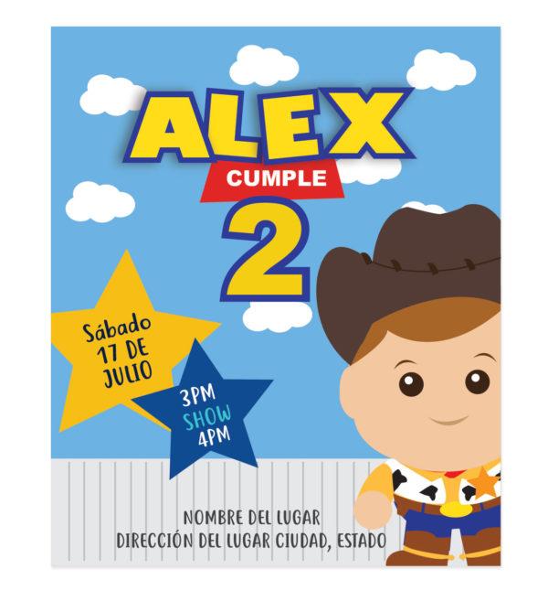 Invitación de Cumpleaños Woody