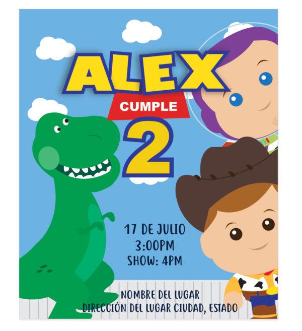 Invitación Cumpleaños 3 Amigos Toy Story