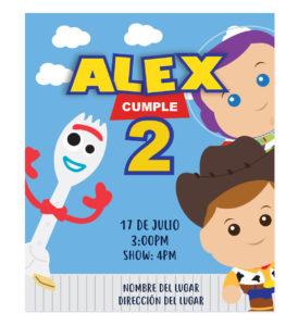 Invitación Cumpleaños Amigos Toy Story