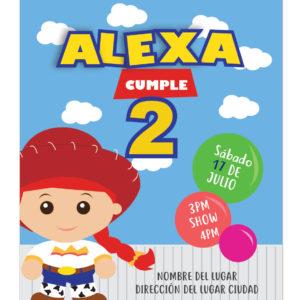 Invitación de Cumpleaños Jessie Toy Story