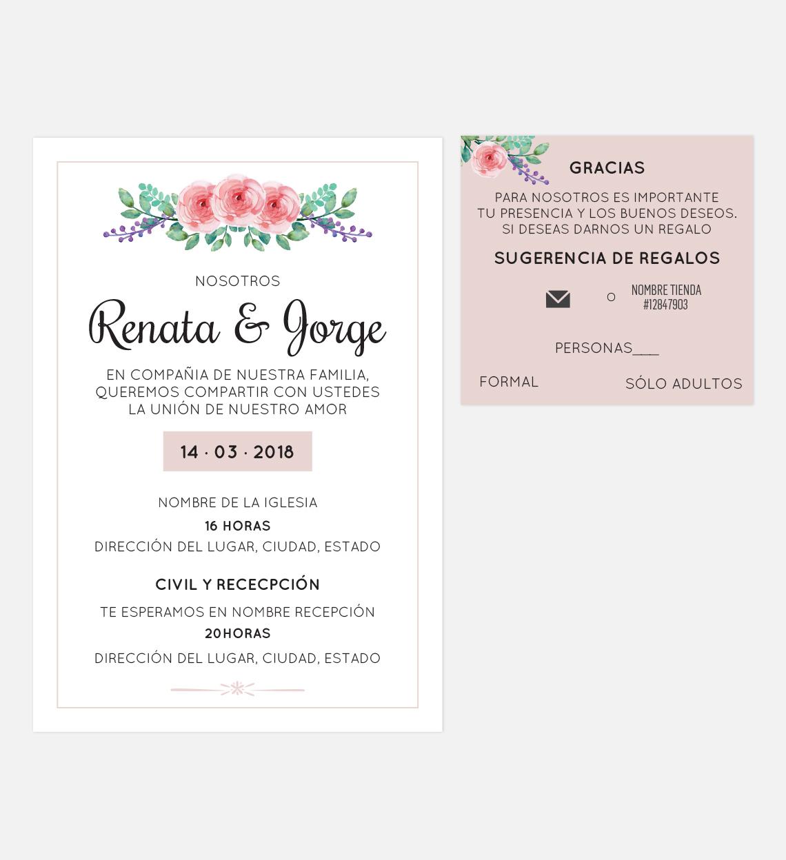 Set de Diseño de Invitación