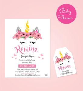 Diseño de Invitación + tarjeta de agradecimiento para Baby Shower