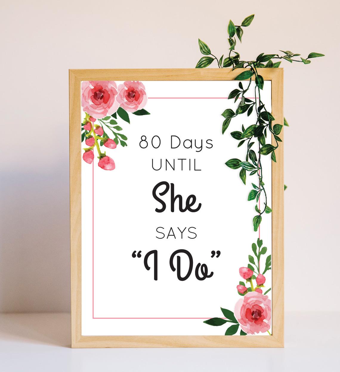 Banner Cuenta Regresiva Pink Flower