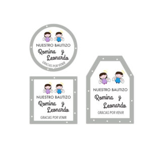 Tarjetita Bautizo Hermanos