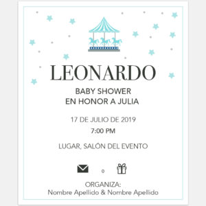 Invitación Baby Shower Stars