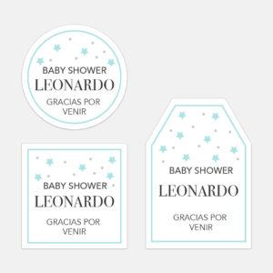 Tarjeta de Agradecimiento Baby Stars