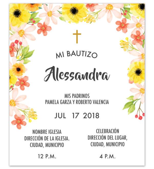 Diseño de Invitación Bautizo Summer