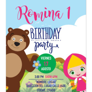 Invitación Masha Campo