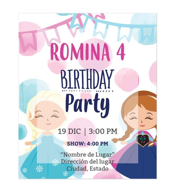 Invitación Ana y Elsa Invierno