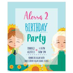 Invitación Ana y Elsa Verano