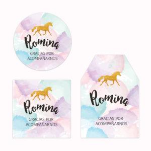Tarjeta de Agradecimiento Baby Unicornio Pastel