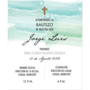 Diseño de Invitación Bautizo Ocean
