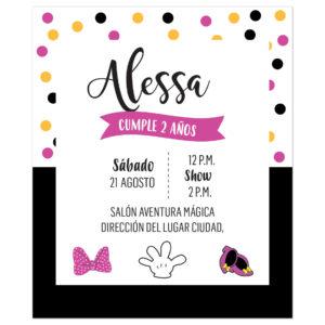Invitación Cumpleaños Minnie Confenti