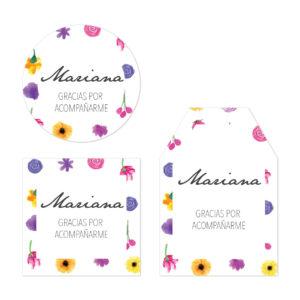 Tarjeta de Agradecimiento Pared Flores