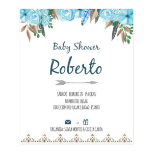 Diseño Invitación Baby Shower Tribu
