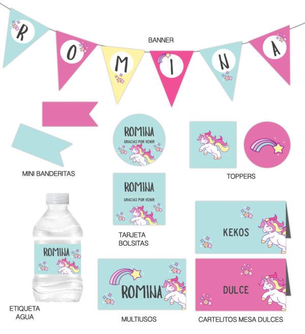 Kit Infantil Unicornio Aqua