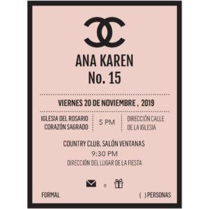 Invitación XV Años Coco CH