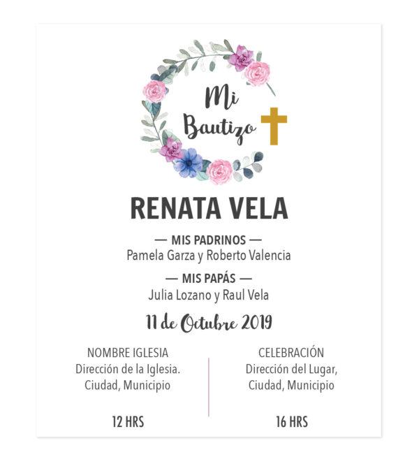 Diseño de Invitación Bautizo Corona