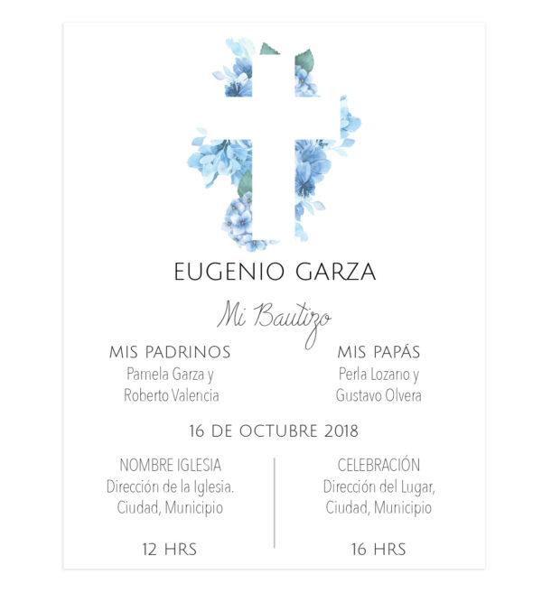 Invitación Bautizo Cruz Azul