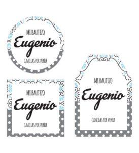 Tarjeta Agradecimiento Bautizo Blue Vintage