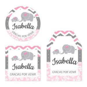 Tarjeta de Agradecimiento Baby Shower Elefantes