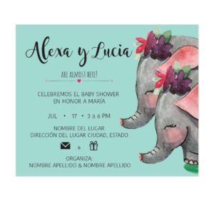 Invitación Baby Shower Mannys
