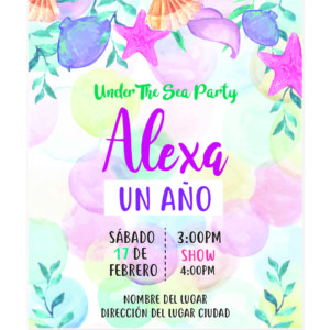 Invitación Cumpleaños Sirena Estrella