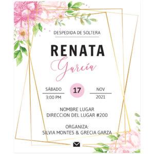 Invitación Despedida de Soltera Rose