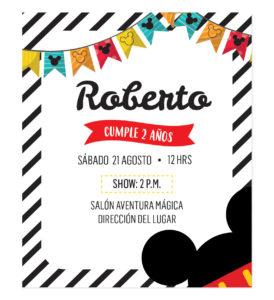 Invitación Cumpleaños Mickey Mouse