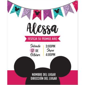 Invitación Cumpleaños Mickey Niña