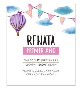 Invitación Cumpleaños Globo