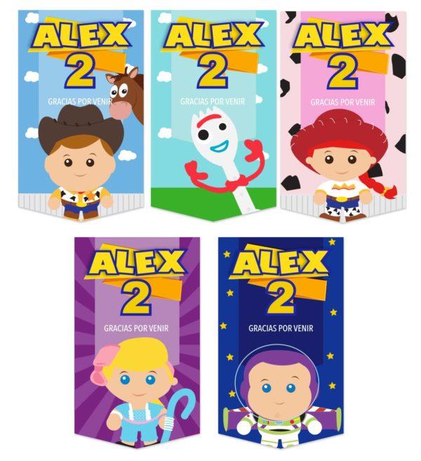 Etiquetas para Bolsita de Dulces Toy Story 4