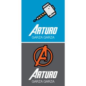Tarjetas para Regalos Martillo Avengers
