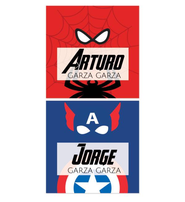 Tarjetas para Regalos America y Spiderman