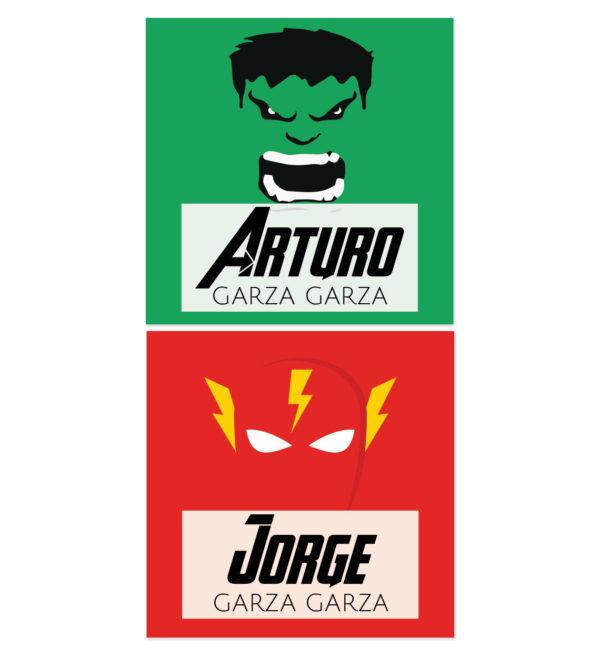 Tarjetas para Regalos Hulk y Flash