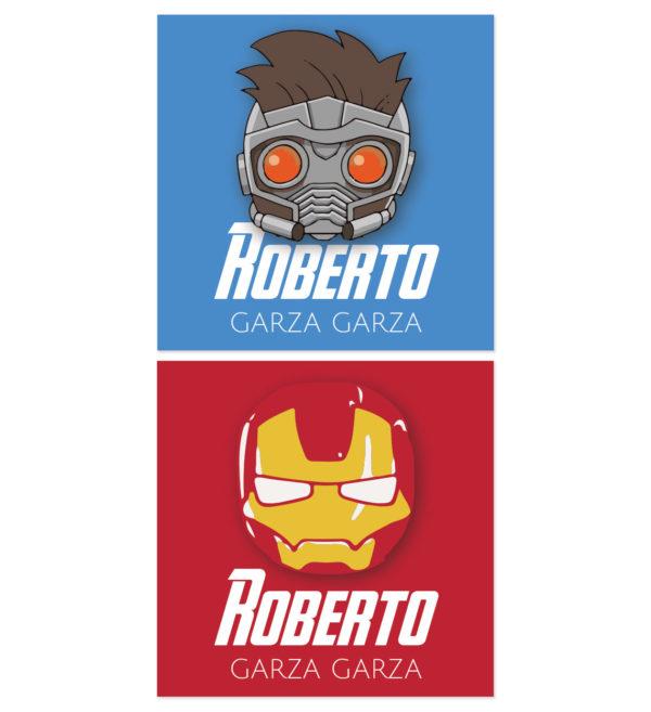 Tarjetas para Regalos Iron Man y Star Lord