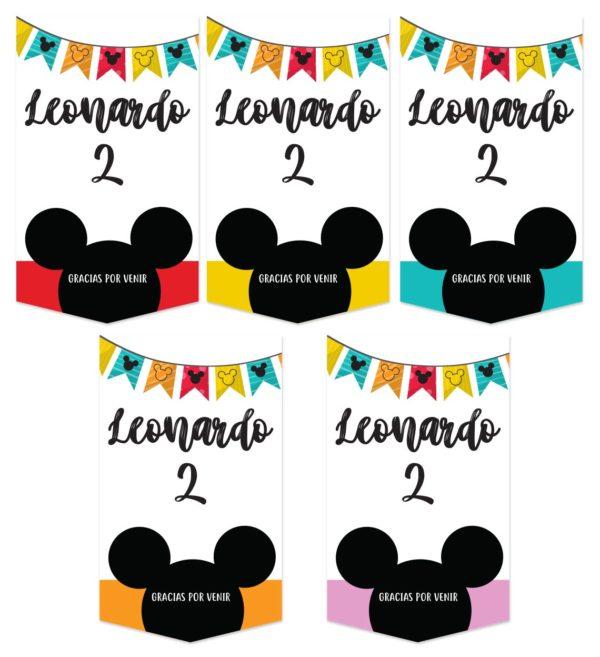 Etiqueta Bolsa de Cumpleaños Mickey