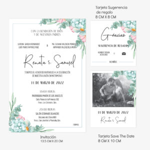 Diseño invitación Boda Celina