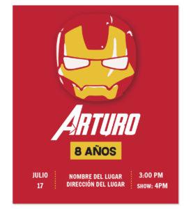 Invitación Cumpleaños Iron Man